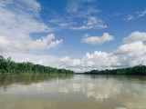 View Down a South American River Under a Cloud-Filled Sky Photographic Print by Steve Winter