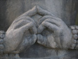 Close View of a Buddhist Statue's Hands Photographic Print by Joy Tessman