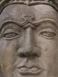 Close View of a Buddhist Statue's Face Photographic Print by Joy Tessman