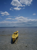 Yellow Kayak on a Beach in the Everglades Photographic Print by Raul Touzon