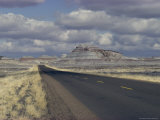 Deserted Road Through the Petrified Forest Area, Arizona Photographic Print by David Edwards