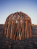 Shelter Made Out of Sticks by the Himba Tribespeople of Namibia Photographic Print by Joy Tessman
