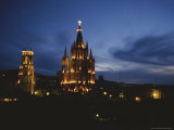 View of the La Parroquia Church at Twilight Photographic Print by Raul Touzon