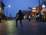Dancing Starts Early on Memphis' Famous Beale Street Photographic Print by Stephen Alvarez