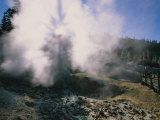 Steam Rises From Lassen Peak Volcanic Vent Photographic Print by Rich Reid