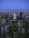 Night View of the Manhattan Skyline From the Empire State Building Photographic Print by Todd Gipstein