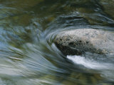Water Swirls Around a Rock in the Merced River Photographic Print by Marc Moritsch