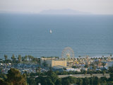 Ventura Fairgrounds, Sailboat, and Anacapa Island From Grant Park Photographic Print by Rich Reid