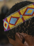 Close View of a San Bushman Wearing a Beaded Headband Photographic Print by Joy Tessman