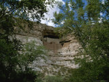 Montezuma's Castle Cliff Dwelling Framed by Trees Photographic Print by Todd Gipstein