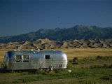 Camper Parked in Great Sand Dunes National Monument Photographic Print by Richard Nowitz