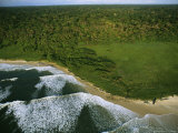 Elevated View of the Atlantic Coast of Gabon Fotografisk tryk af Michael Nichols