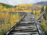 Historic Railroad Trestle Above the Gilahina River Photographic Print by Rich Reid
