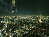 Elevated View of Tokyo Tower at Night Photographic Print by  xPacifica
