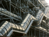 Close-up of a Modern Stairway at the Centre Pompidou in Paris Photographic Print by Peter Carsten
