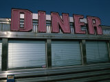 Classic Diner Sign To Pull in Hungry Patrons Photographic Print by Stephen St. John
