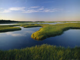 Tidal Flats of Nauset Marsh in Eastham Photographic Print by Michael Melford