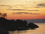 Lake Malawi at Sunset Photographic Print by Peter Carsten