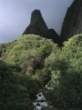 Iao Needle Rises 1,200 Feet Above a Stream on Maui Island, Hawaii Photographic Print by Charles Kogod