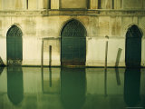 Detail of Doors Along a Flooded Street in Venice Photographic Print by Steve Winter