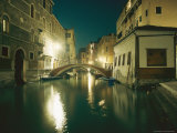 Twilight View of a Flooded Street in Venice Photographic Print by Steve Winter