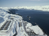 Tanker Loading at Valdez Terminal of the Trans-Alaska Pipeline Photographic Print by George Herben