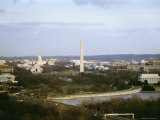 View of the City Looking Toward the Capitol and Washington Monument Photographic Print by Rex Stucky