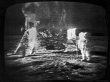 Televised View of the Apollo 11 Astronauts Walking on the Moon, Photographic Print