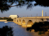 Looking Across Arlington Memorial Bridge To Washington, Dc Photographic Print by Rex Stucky