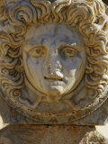 Carving of a Head of Medusa on a Portico Photographic Print by Bobby Model