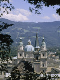 Summertime View of the Salzburg Cathedral Spires Photographic Print by Taylor S. Kennedy