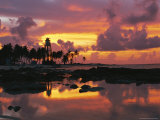 Twilight View of Lighthouse Reef with Great Reflections and Sky Photographic Print by Steve Winter