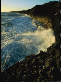 Heavy Surf Pounding on a Rocky Shoreline Photographic Print by Steve Winter