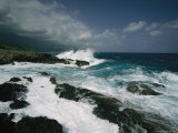 Heavy Surf Pounding a Rocky Coastline Photographic Print by Steve Winter