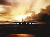 Navy P2V Patrol Plane at Sunset at Keflavik Naval Station Photographic Print by Rex Stucky