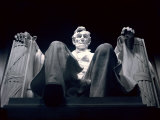 Abraham Lincoln Statue Inside the Lincoln Memorial Photographic Print by Rex Stucky