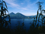 Corn Grows Around Lake Atitlan Photographic Print by Stephen Alvarez