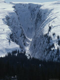 Snow-Covered Gorge in the Chugach Mountains Photographic Print by George Herben