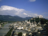 Summertime View of Salzburg, Austria Photographic Print by Taylor S. Kennedy