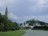 Summertime View of Salzburg and the Salzach River Photographic Print by Taylor S. Kennedy