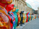 Hand-Painted Buddy Bears from Around the World Circle Bebelplatz Photographic Print by David Peevers
