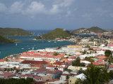 Overhead of Charlotte Amalie from Blackbeard's Castle on Government Hill Fotografisk tryk af Margie Politzer