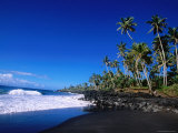 Nuu Black Sand Beach Near Taga Photographic Print by Holger Leue