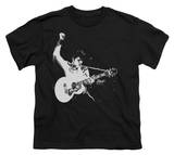 Youth: Elvis - Black &amp; White Guitarman T-shirts