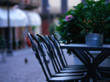 Quiet Seat in Menaggio on the Shores of Lake Como Photographic Print by Rocco Fasano