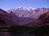 La Sal Mountains and Professor Valley in Colorado Riverway Recreation Area Near Moab Photographic Print by Witold Skrypczak