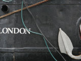 Grey Ship with London Script, Anchor and Rope Photographic Print by David Borland