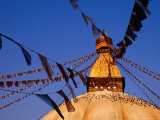 Bodhnath Stupa with Prayer Flags Photographic Print by Ryan Fox