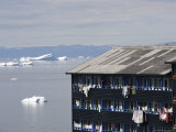 Icebergs Floating by Apartment Buildings Photographic Print by Andrew Peacock