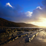 Terraced Rock Shoreline at Blanket Bay Photographic Print by Rodney Hyett